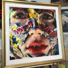Explosive energy just contained by elegant Messina frame from Roma Mouldings. Painting by Sandra Chevrier.
